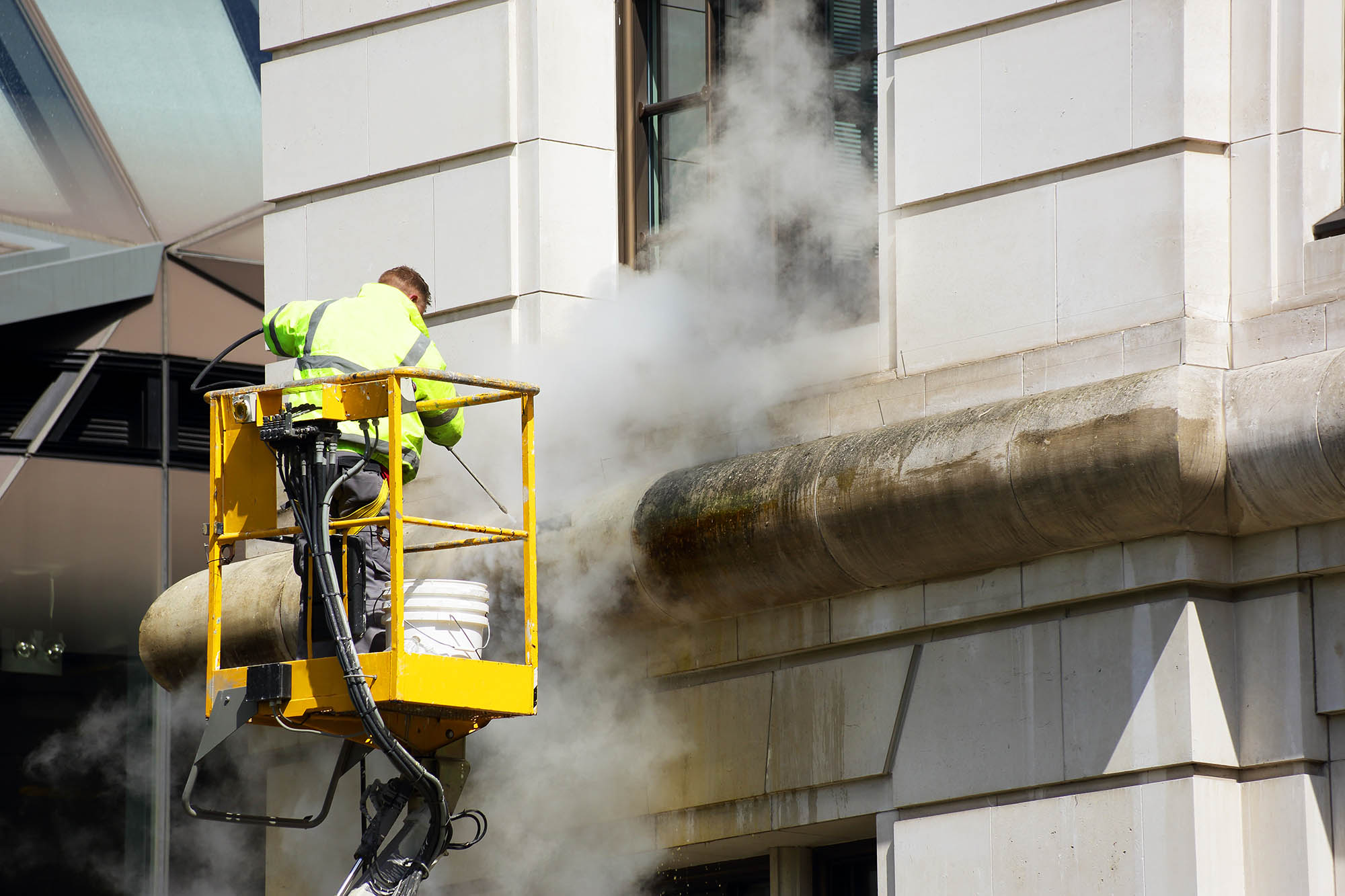 Commercial Building Cleaning : High rise window cleaning pressure washing company in